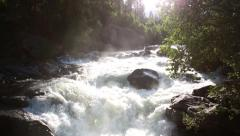 Beautiful raging stream waterfall in boulder colorado - 2 clips Stock Footage