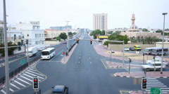 Traffic road time lapse from dubai Stock Footage