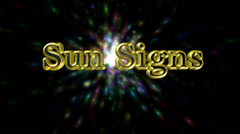 Sun signs 3D title animation for videos HD Stock Footage