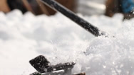 Stock Video Footage of Grooming snow with rake - 2 clips