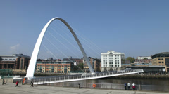 Timelapse of Gateshead Millennium Bridge Stock Footage