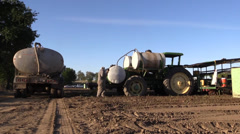 California Agriculture, Vegetable crops, water tanks Stock Footage