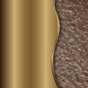 Abstract bronze background with curve and foil Stock Illustration