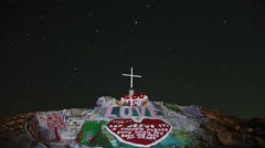 4k Salvation Mountain Slab City time lapse God is Love Stock Footage