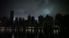 Manhattan Buildings at Night - Chrysler Building - stock footage