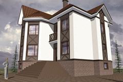 Model home Stock Illustration