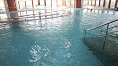 General view of spa center pools Stock Footage