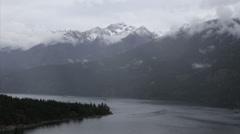4k Cascasde mountain range fog time lapse in Washington Stock Footage