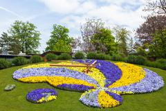 Beautiful and colorful floral clock in geneva switzerland - swiss horology sy Kuvituskuvat