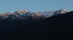 4k Cascade mountain range sunset time lapse in Washington Stock Footage