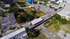 Aerial Urban city Stock Footage