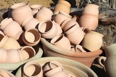 Ceramics from Tunisia - stock photo