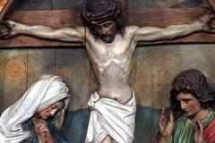 Jesus dies on the cross Stock Photos