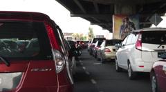 Traffic Jam kaupungissa aikana Aamuruuhka Arkistovideo