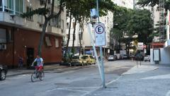 Street near copacabana Stock Footage
