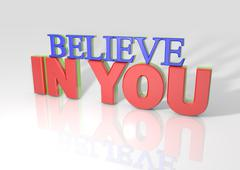 Stock Illustration of 3d believe in you