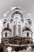 Church on Blood in Honor of All Saints Resplendent in the Russia Stock Photos