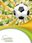 Abstract soccer wallpaper design Stock Illustration