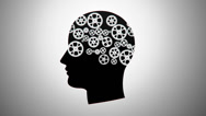Stock Video Footage of silhouette of a person with gears