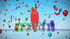 Love celebration. Stock Footage