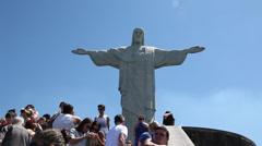 Christ statue Cristo Redendor Stock Footage