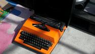 Desktop typewriter Stock Footage