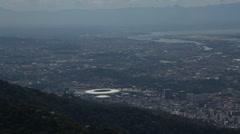 View Rio from Cristo, Maracana Stock Footage