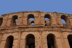 The amphitheater in El-Jem, Tunisia - stock photo