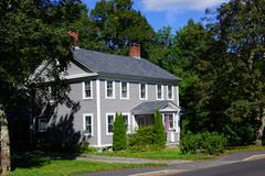 Classic new england home Stock Photos