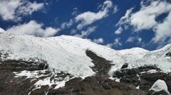 Kharola Glacier Mountain Stock Footage