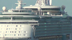 Cruise ship approaching - stock footage