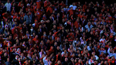 Soccer Fans Closeup and slow motion5 Stock Footage