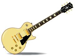Electric guitar - stock illustration