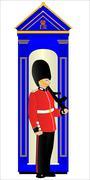Guard duty Stock Illustration