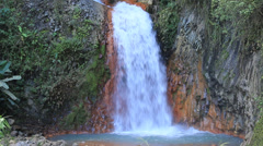 Big waterfall in Dumaguete, island Negros, Philippines. Stock Footage