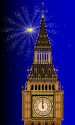 London mew years eve Stock Illustration