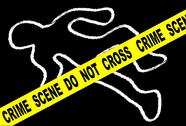 Stock Illustration of crime scene chalk mark