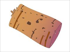 Wine bottle cork Stock Illustration