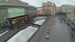 Central Department Store at winter day on Neglinnaya street Stock Footage