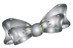 chrome bow - stock illustration