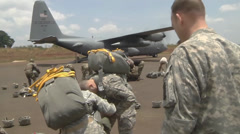 Exercise Central Accord paratroop operations Stock Footage