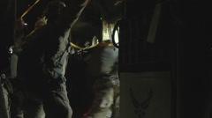 C-130 Hercules parachute operations - stock footage