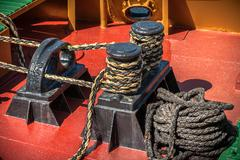 On Deck- Boat Rigging - stock photo
