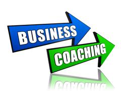 Business coaching in arrows Stock Illustration