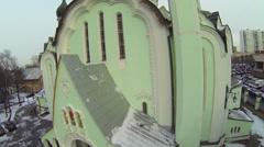 Edifice of Church of Resurrection in Sokolniki district Stock Footage