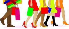 Shopping legs Stock Illustration