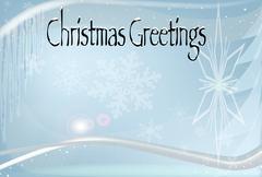 Cold Christmas Greetings. - stock illustration
