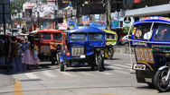 Stock Video Footage of Tricycle motor taxi are the most popular means transportation in Philippines
