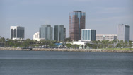 Stock Video Footage of 4K Long Beach Skyline California