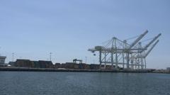 4K Port of Long Beach, California Stock Footage